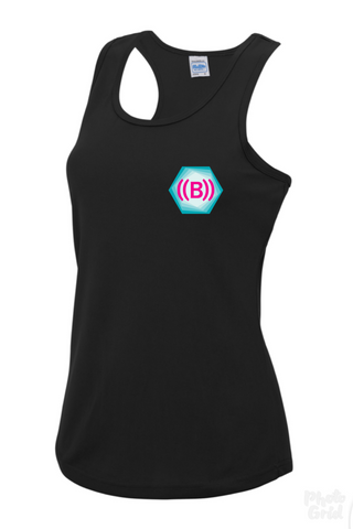 ((B)) Ladies sports vest | Black/ Icon logo
