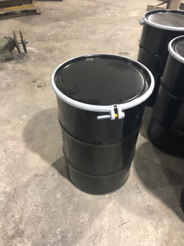 30 gallon open top Steel drum, rated, dot approved