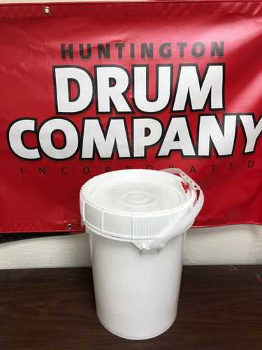 5 gallon Plastic open top drums, rated