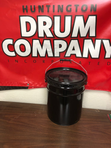 5 gallon open top steel bucket, rated for all packaging groups