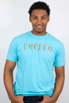 Men's CHOSEN Premium Super Soft Crew Neck Tee (Tahiti Blue Color)
