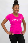 Women's CHOSEN Premium Sueded V-Neck (Raspberry Color)