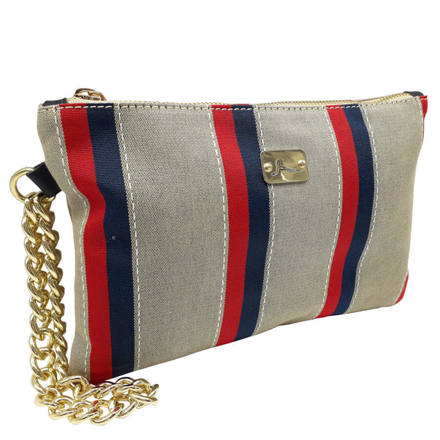 PRECIOUS Multi Stripes - Gold Chain Bracelet Bag