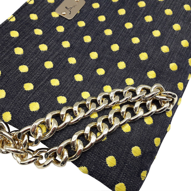 PRECIOUS Denim Pois - Gold Chain Bracelet Bag