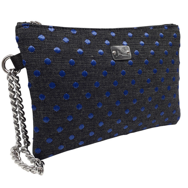 PRECIOUS Denim Pois - Silver Chain Bracelet Bag