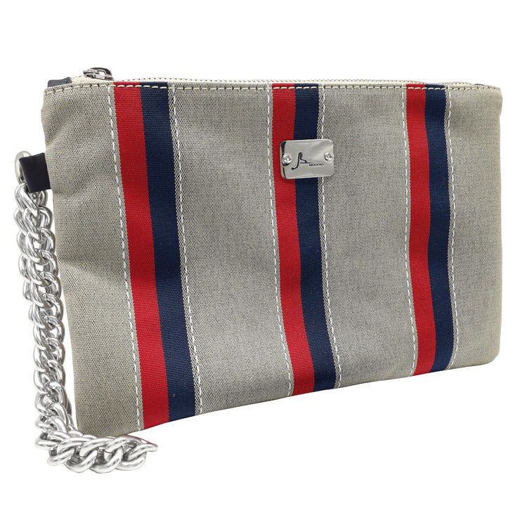 PRECIOUS Multi Stripes - Silver Chain Bracelet Bag