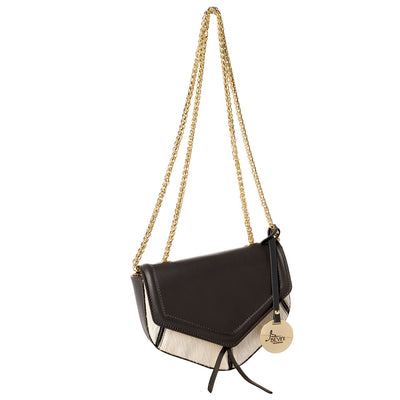 Gold Chain Mini-Soft Movie Leather & Haircalf Bag (29001M1)