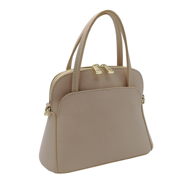 Small Bag in Leather with Handles (B140manici)