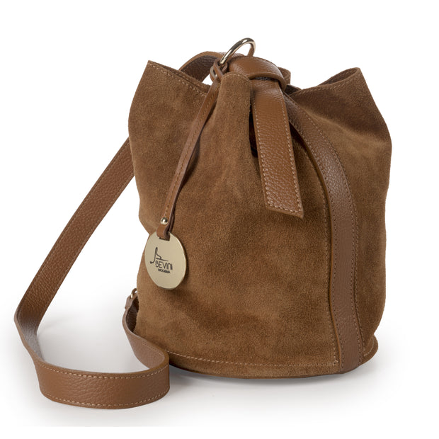 Suede Bucket Bag (B282)