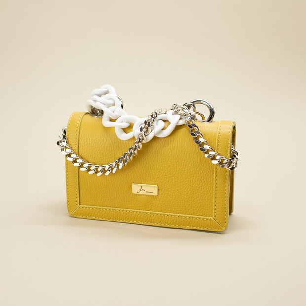 Leather Bag with Double Chain