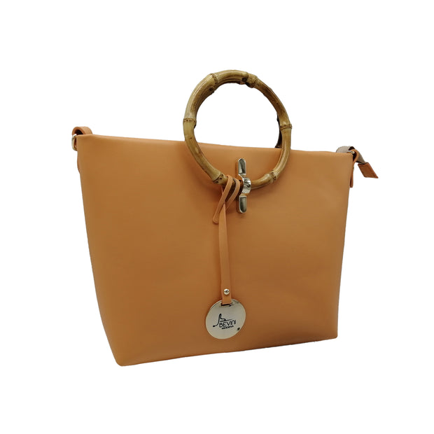 Small Satchel with Genuine Bamboo Handles (B348)