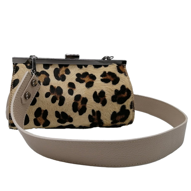 Leopard Print Leather Bag (B375)