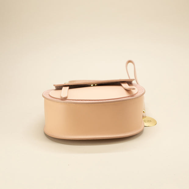 Leather Bag with a Rounded Shape