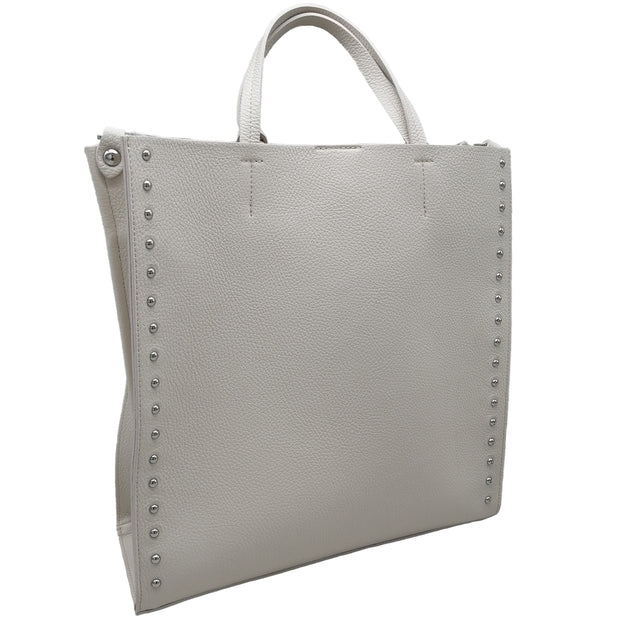 Dollaro Leather Large Shopper with Studs