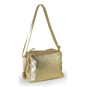 Suede Laminated Leather Shoulder Bag (B237)
