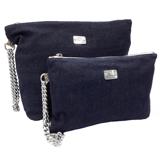 PRECIOUS Denim - Silver Chain Bracelet Bag