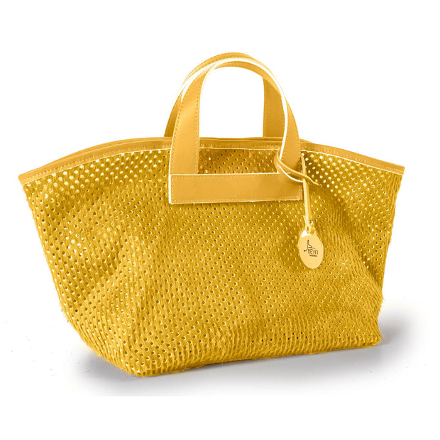 Perforated Haircalf Leather Tote