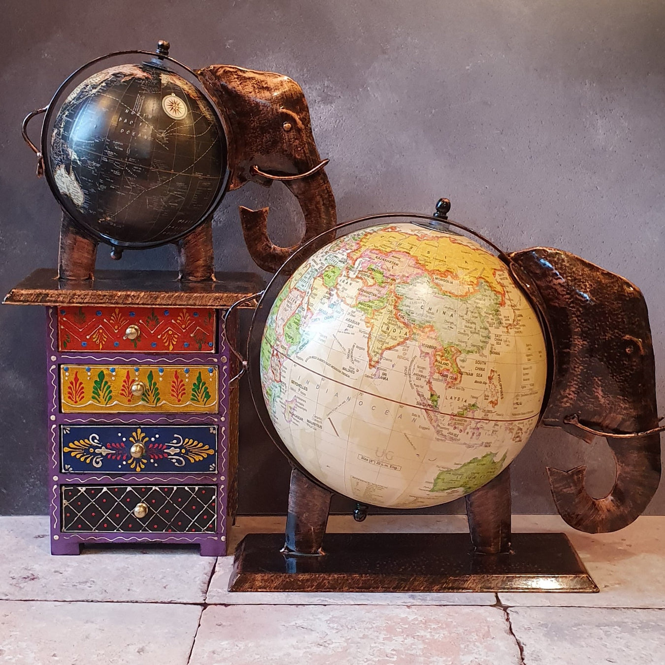 Elephant Globes Fair Trade from India