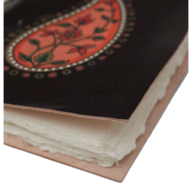 Paisley Leather-Bound Journal With Recycled Paper