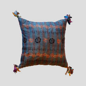 Silk Kantha Cushion