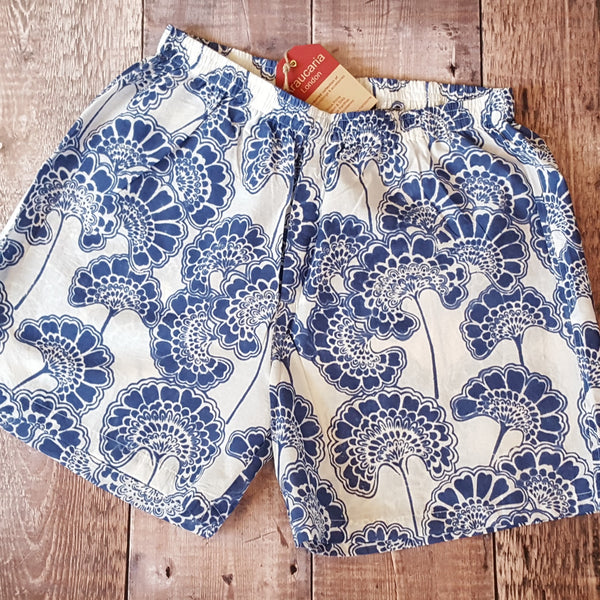 Blue Flowers Boxer Shorts