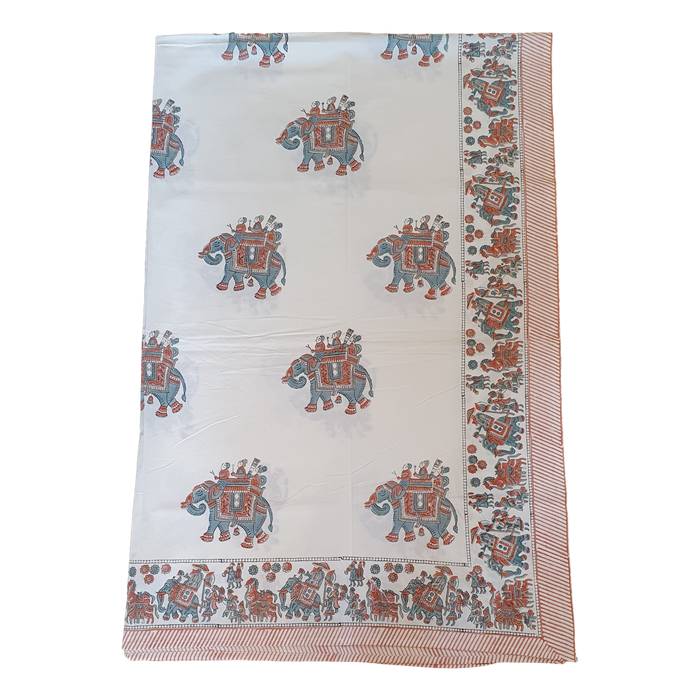 Block Printed Cotton Throw