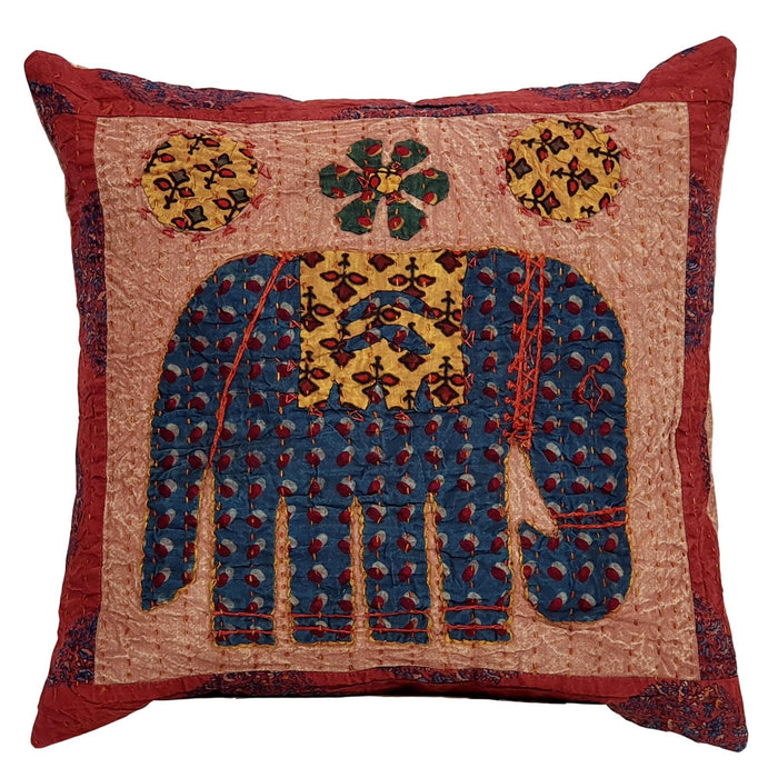 Elephant Cushion Cover - Brown