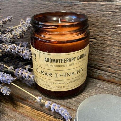 Clear Thinking Aromatherapy Candle with Rosemary Essential Oil