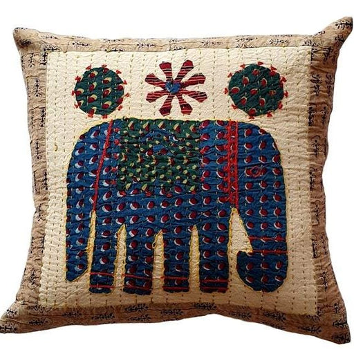 Elephant Cushion Cover - Cream