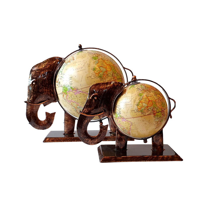 Handmade Cream Elephant Globe Fair Trade from India