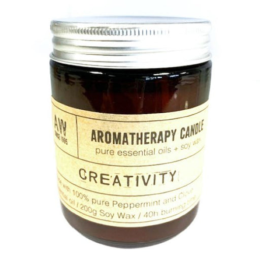 Creativity Aromatherapy Candle with Peppermint and Clove Essential Oils