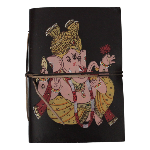 Ganesh Leather-Bound Journal With Handmade Paper