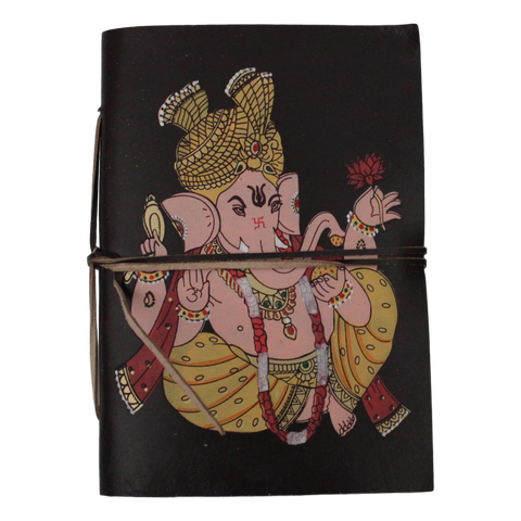 Ganesh Leather-Bound Notebook