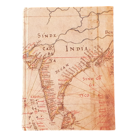 Old Map Of India Hardback Handmade Paper Notebook