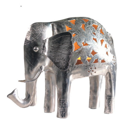 Metal Elephant Tealight Holder