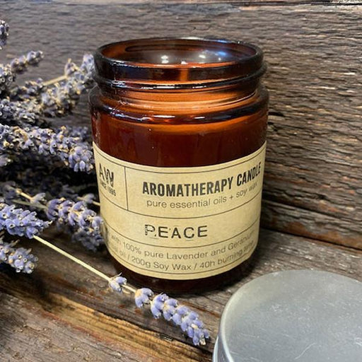 Peace Aromatherapy Candle with Lavender and Geranium Essential Oils