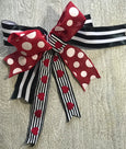 helloholidays,Red Burlap Ribbon with White Dots,Lion,Ribbon