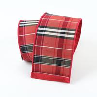 helloholidays,Red Tartan Plaid,Farrisilk,Ribbon.