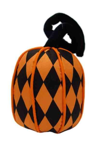 Pumpkin with foldable stem, black/orange
