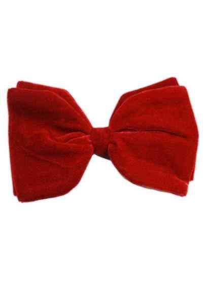 6 Inch Velvet Bow with Clip