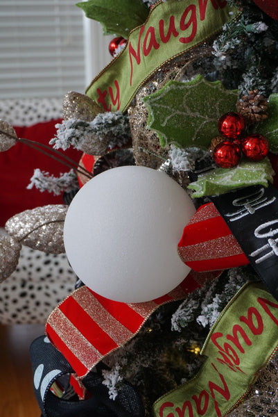 6 Inch Glitter Ornament Ball (7 color options)