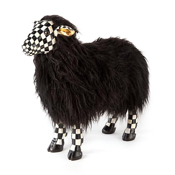 helloholidays,MacKenzie Childs Courtly Check Black Sheep,MacKenzie Childs,Easter Decoration