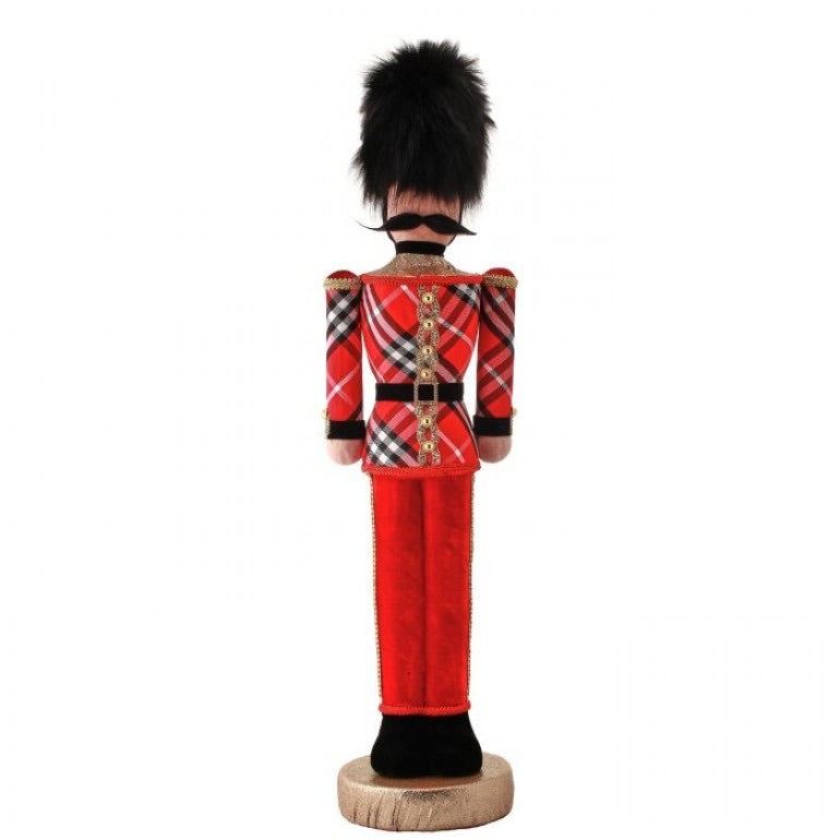 helloholidays,Tall Soldier in Plaid,Regency,Christmas Decoration.