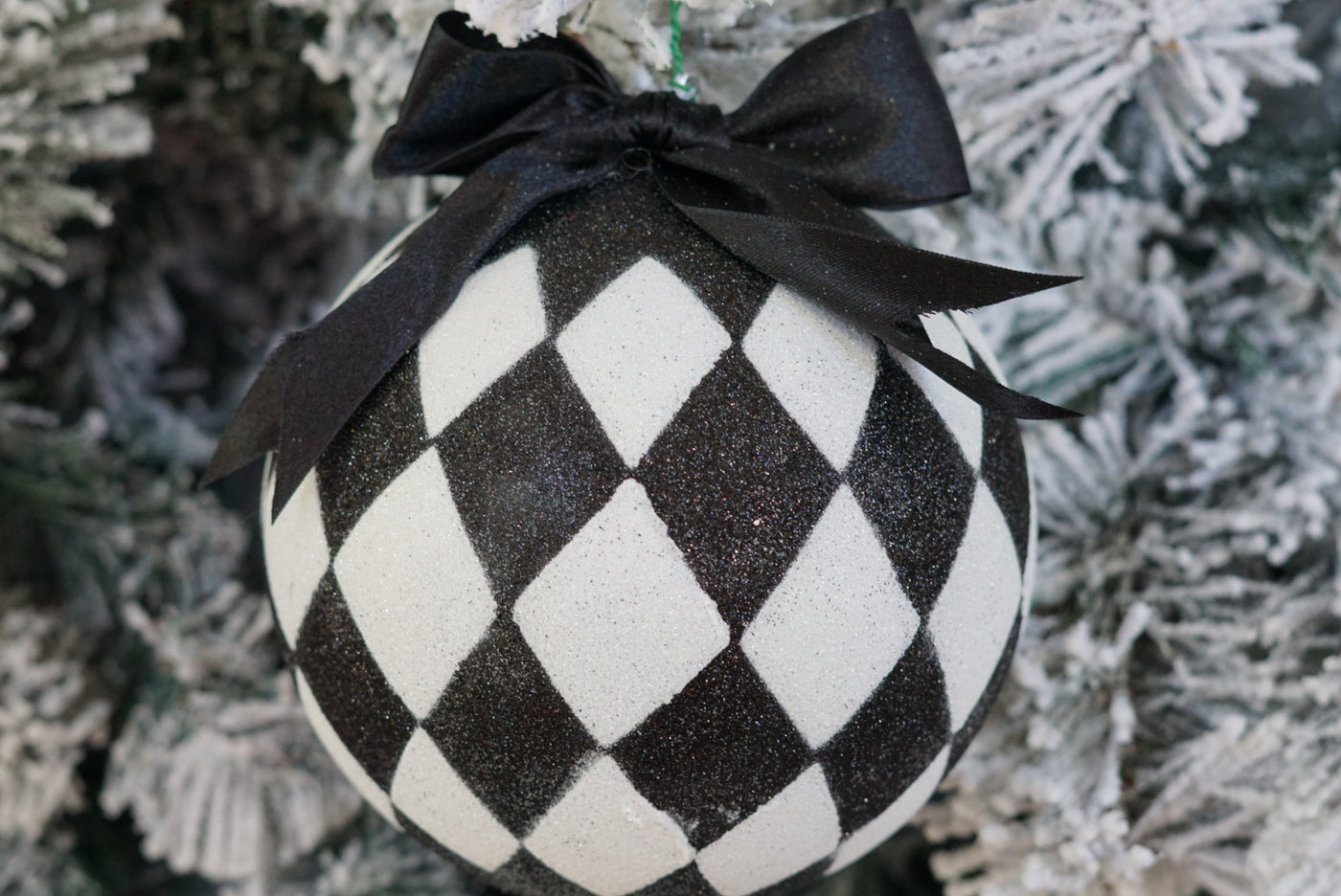 SOLD OUT!!!  Large Black White  Harlequin Ball