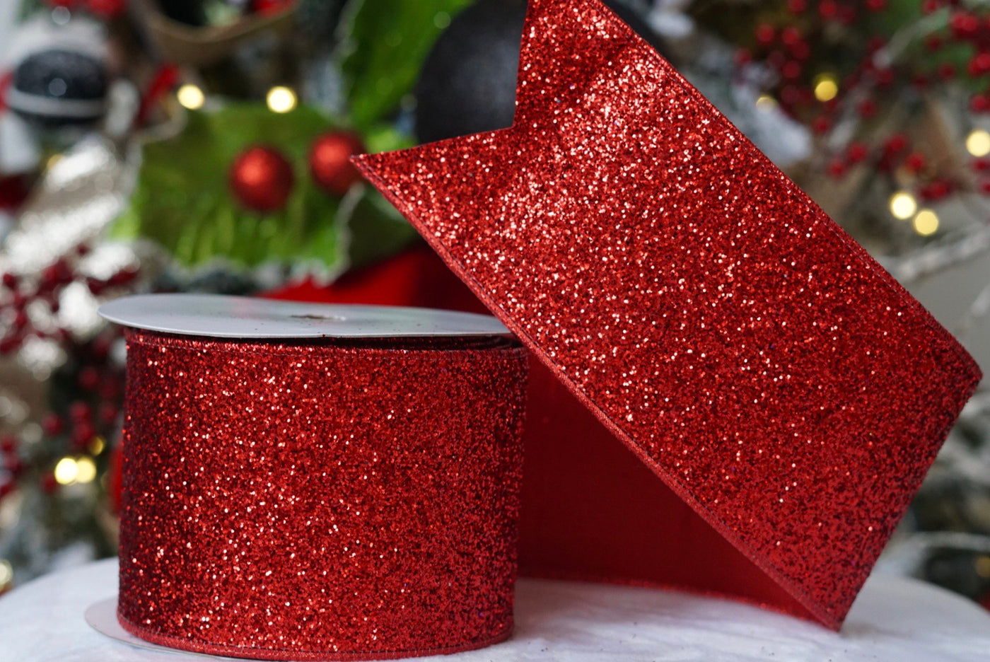 Red Glitter Magic Ribbon