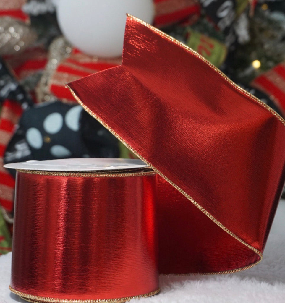 helloholidays,Outdoor Shiny Red Ribbon,Farrisilk,Ribbon