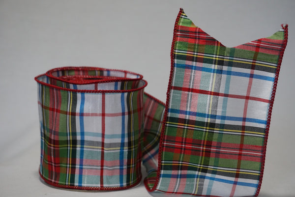 helloholidays,McKinney Plaid Ribbon,dStevens,Ribbon