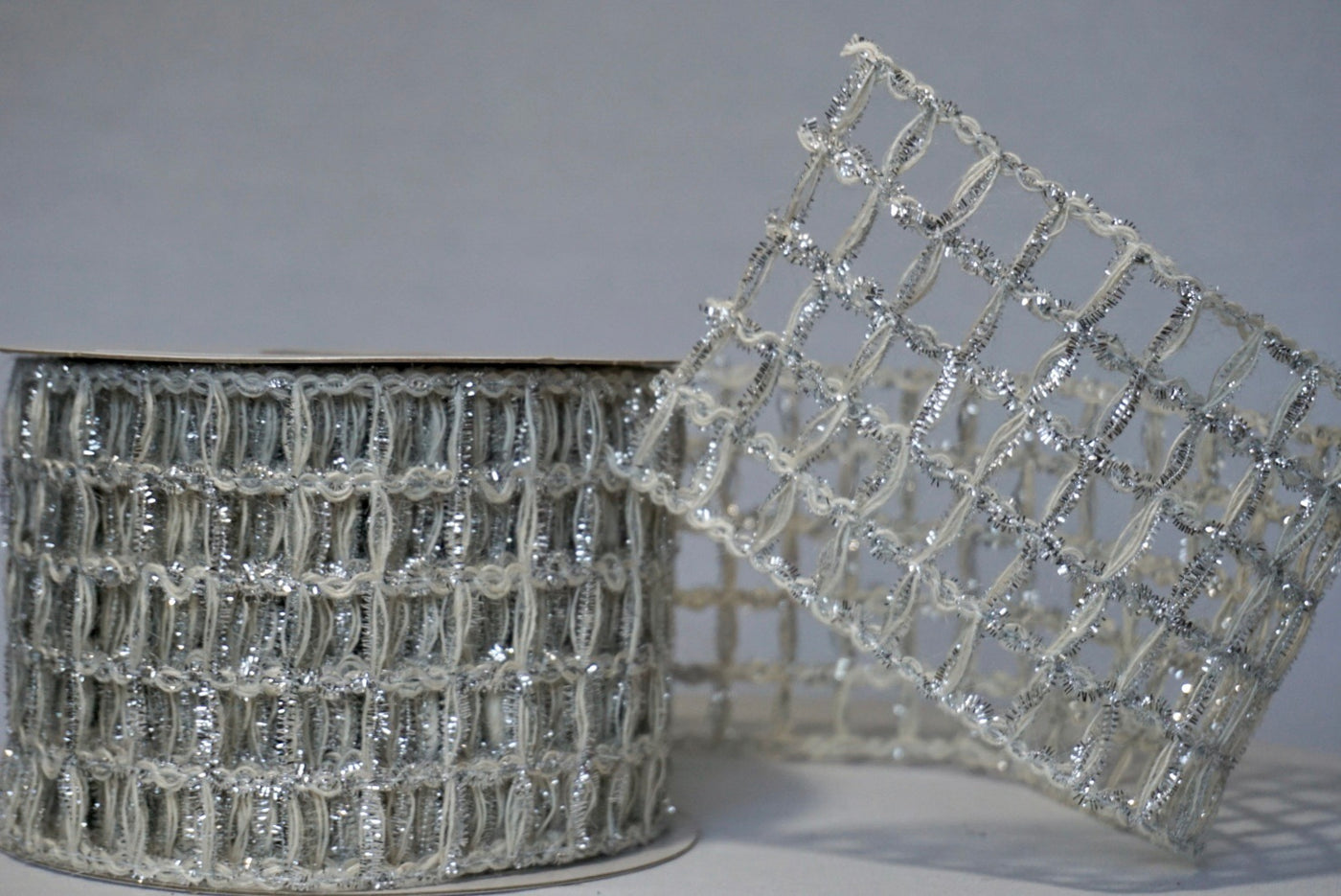 Sparkled Silver Jute Ribbon