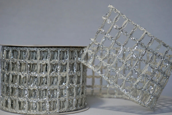 helloholidays,Sparkled Silver Jute Ribbon,Reliant,Ribbon