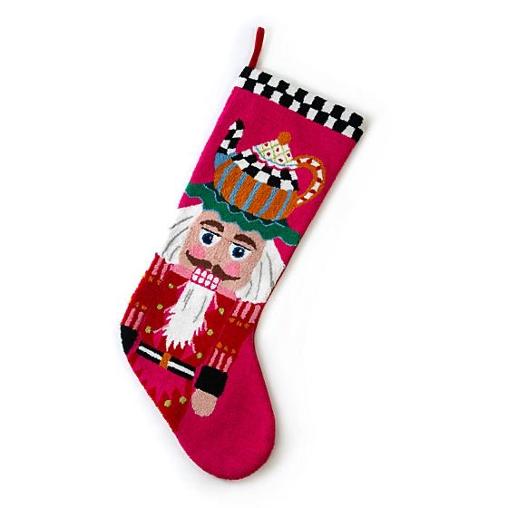 helloholidays,Jumbo Teatime Nutcracker Stocking,MacKenzie Childs,Stocking